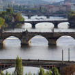 prague bridges — Stock Photo