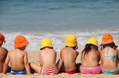 Cute children on the beach — Stock Photo