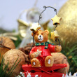 Christmas decorations (bear) — Stok Fotoğraf #13578437