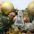 Stock Photo: Christmas decorations and glass angel