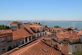 Telhados de lisboa, portugal — Foto Stock
