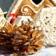 Christmas decoration and sweets - Stock Photo