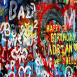 Stock Photo: John Lennon wall in Prague