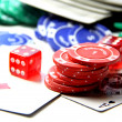 Poker items — Stock Photo