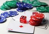 Poker items — Stock Photo