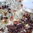 Beads and crystals — Stock Photo