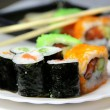 Mix of sushi specialties — Stock Photo