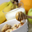 Muesli with honey and fruits — Stock Photo #15842793