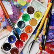 Art palette and watercolors — Stock Photo #16552691