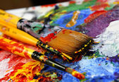 Art palette — Stock Photo