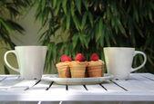 Tasty cakes in Portugal — Stock Photo