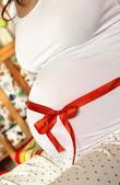 Pancia bella donna incinta — Foto Stock