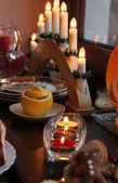 Christmas candles — Stock Photo