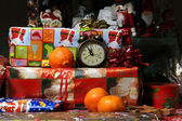 Christmas gifts and Christmas tree — Stock Photo