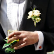 Well dressed groom — Stock Photo
