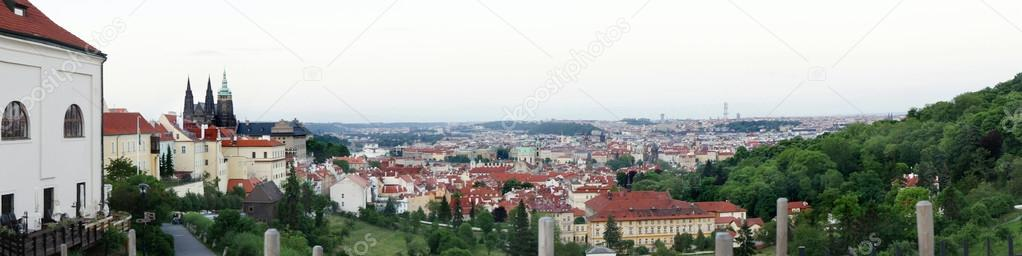 Beautiful unusual panorama of Prague  — Stock Photo #18375841