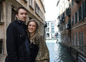 Couple in Venice — Stock Photo