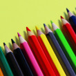 Stock Photo: Mix of multicolored vivid pencils