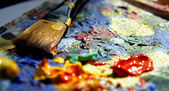 Mixing painting — Stock Photo