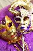 Beautiful Venetian carnival masks — Stock Photo