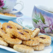 Stock Photo: Tea time with cookies