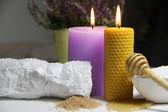 Bienestar y velas ardientes — Foto de Stock