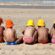 Kids on the beach — Foto de Stock