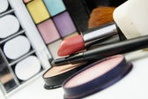 Lipstick and decorative cosmetic — Stock Photo