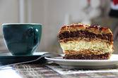 Beautiful glazed caramel cake — Stock Photo