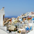 图库照片: Amazing white houses of Santorini