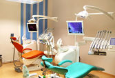 Dental clinic office with equipment — Stock Photo
