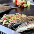 Fresh fish on the grill  — Stock Photo
