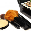 Makeup palette and brushes — Stock Photo #27711211