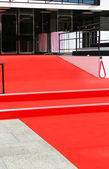Empty red carpet — Stock Photo