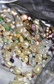 Mix of beautiful luxury bijou and jewels — Stock Photo