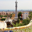 Park Guell in Barcelona, Spain with Gaudi houses — Stock Photo #30755951