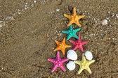 Christmas and New Year on the beach — Stock Photo
