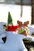 Christmas time with toys — Stock Photo