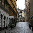 Old town street in Vienna — Stockfoto