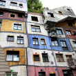 Hundertwasserhaus vivid houses in Vienna — Stock Photo