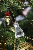 Beautiful decorated Christmas tree — Stock Photo