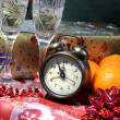 New Year in antique retro style — Stock Photo