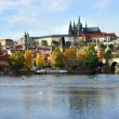 Prague Castle and Charles bridge, Czech Republic — Stock Photo