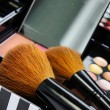 Professional make-up palette and brushes — Stock Photo #34902623