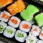 blandning av japansk sushi och rullar — Stockfoto #36212653