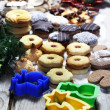Stock Photo: Christmas cookies wit vivid pastry forms