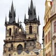 Tyn church in Prague, Czech republic — Stock Photo