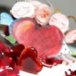 Painted Valentine card with cupid — Stock Photo