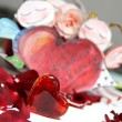 Stock Photo: Painted Valentine card with cupid