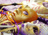 Beautiful Venetian carnival masks — Stockfoto